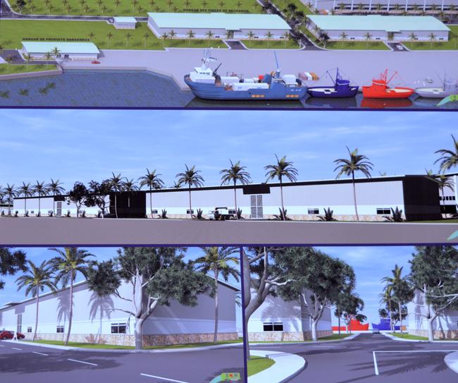 Une projection de ce que serait une partie de la ferme aquacole de Hao, telle que présentée lors de l'inauguration officielle du projet le 6 mai dernier.