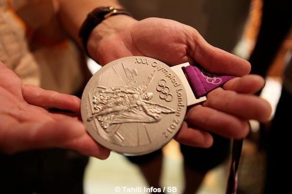La médaille olympique d'Anne Caroline Graffe qu'elle a obtenue surtout grâce au soutien de ses parents