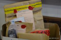 Les pièces à conviction de ce meurtre commis à Faa'a en janvier 2013, sous scellés, présentées lors du procès aux assises de septembre 2014.