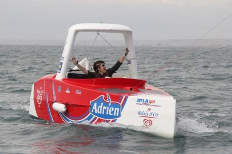 Photo prise le 15 avril 2011 de la navigatrice quimpéroise Anne Quéméré Diatomée/AFP/Archives