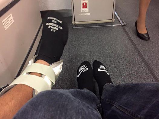 Teva est parti au Portugal avec le pied immobilisé.