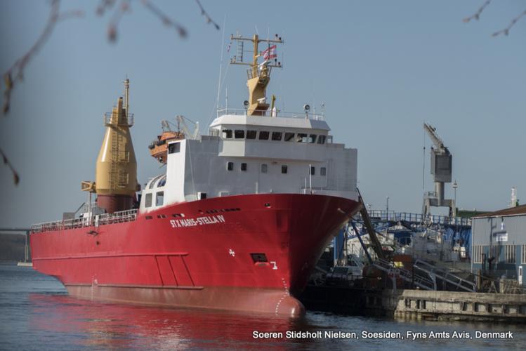 Le ST X Maris-Stella IV avant son départ du port de Svendborg, au Danemark. (Photo: Soeren Stidsholt Nielsen, Soesiden, Fyns Amts Avis, Denmark)