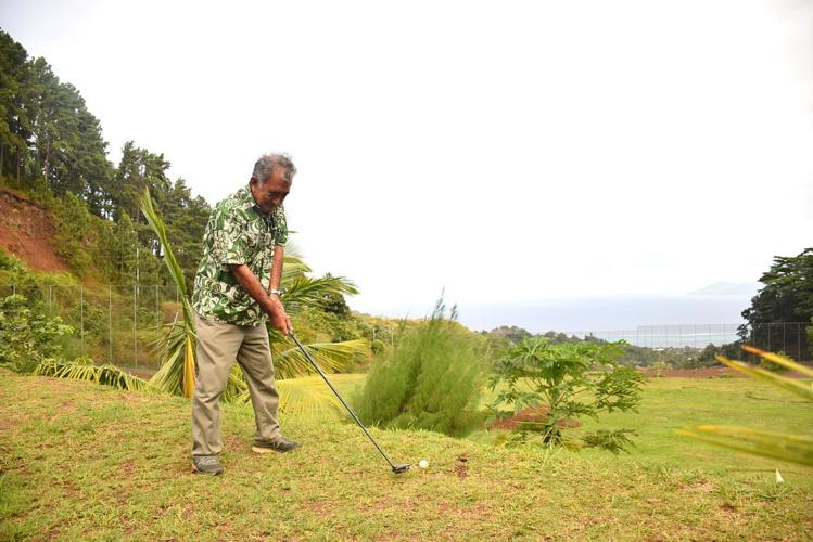Oscar Temaru dévoile son projet de golf à Faa'a
