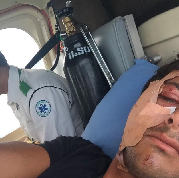 Jérémy Florès a dû attendre 24H avant d'être rapatrié en hélicoptère