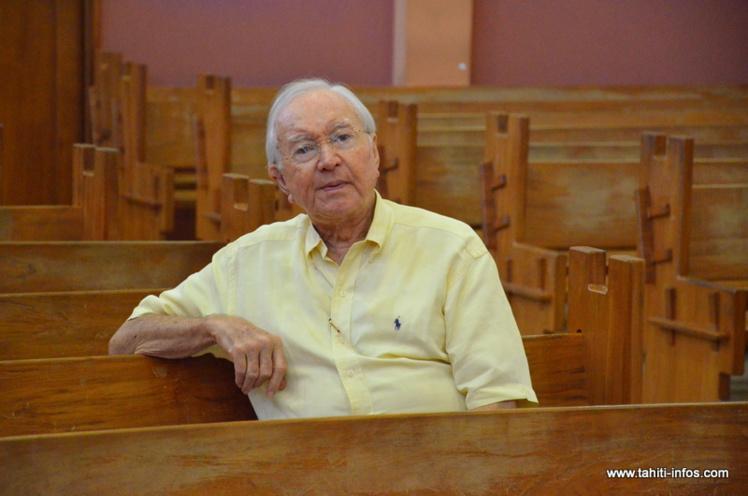 Gaston Flosse, le 25 mars dernier à Papeete, lors du procès en correctionnelle de l'affaire du SED