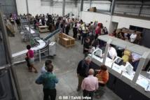 Albert Moux inaugure sa nouvelle imprimerie à Papara