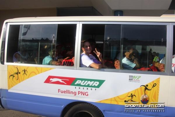 Jeux du Pacifique : Les athlètes sont bien arrivés à Port Moresby