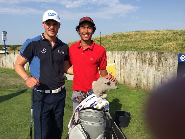 Mahatua Berniere, un jeune qui monte dans le circuit pro du golf européen