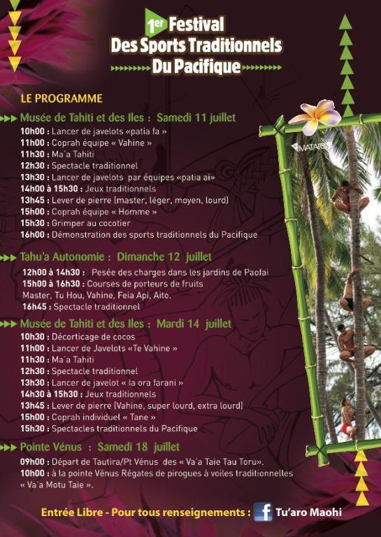 Le 'Heiva Tuaro' devient le 1er Festival des sports traditionnels du Pacifique.