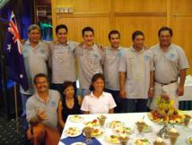 Léon a souvent accompagné en bon père de famille les délégations tahitiennes comme ici lors du tournoi OCéania en Nouvelle zélande