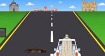 """Au volant de la papamobile, le pape héros du jeu vidéo """"Papa Road"""""""