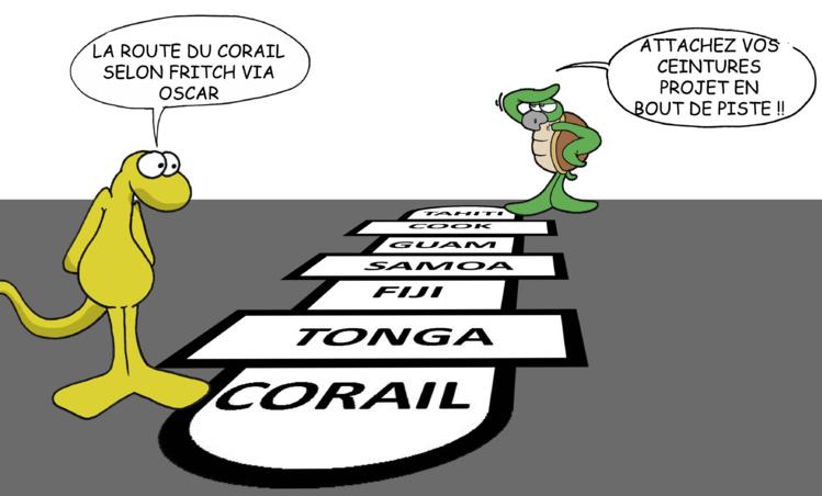 """""""La route du corail"""" par Munoz"""