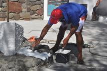Le monument représentant le DUFF a été repeint.