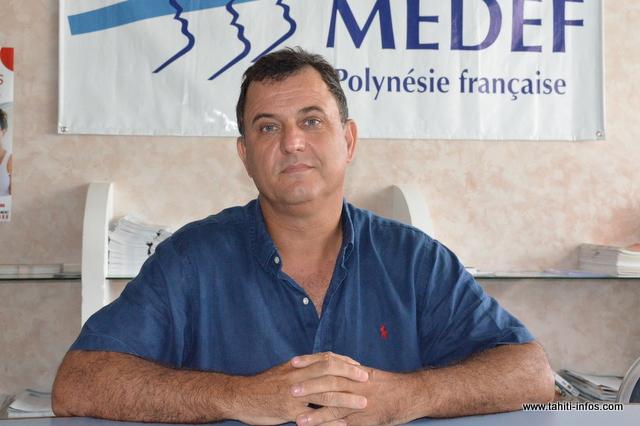 Olivier Kressmann, président du Medef et P-dg d'Informatique de Tahiti