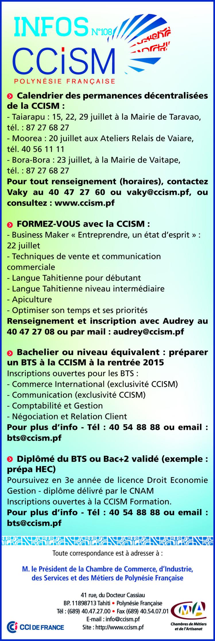 Infos CCISM N°108