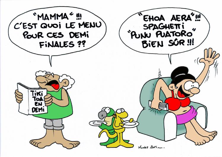"""""""Les Tikitoa affrontent l'Italie en demi finale"""" par Munoz"""