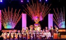 L'orchestre Heikura Nui sur la scène de To'ata en 2014.