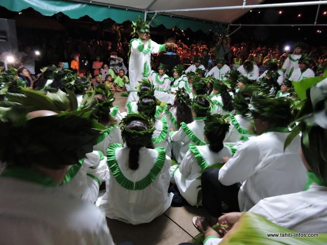 Tamarii Mahina, 2e prix en Tarava Raromatai au Heiva i Tahiti 2015 a offert au public, une belle prestation