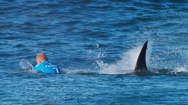 Mick Fanning a été attaqué par un gros requin en pleine finale du J Bay en Afrique du Sud