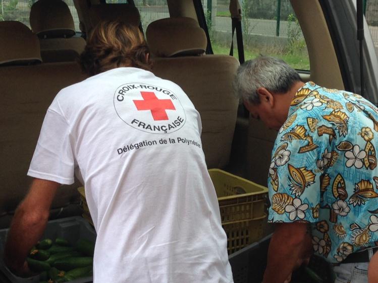 Première livraison de légumes à la Croix-Rouge