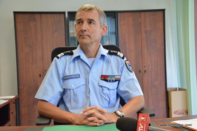 """Pierre Caudrelier : """" En Polynésie Française, la gendarmerie assure ses missions sur la quasi intégralité du territoire"""""""