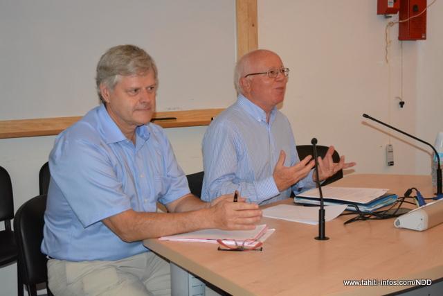 A gauche, Jacques Mérot. A droite, Bruno Lasserre