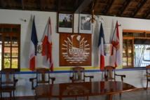 La salle du conseil municipal de la mairie de Papara. De nouvelles élections municipales seront organisées prochainement qui pourraient bouleverser complètement le rapport des forces politiques de la commune.