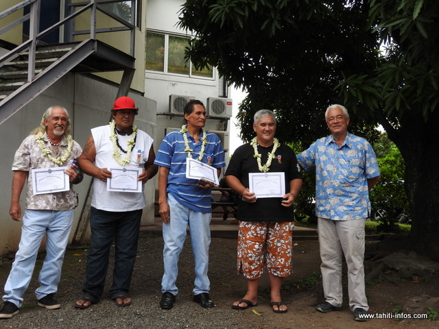 Ils étaient quatre employés d'une société d'acconage à avoir reçu la médaille Grand Or du Travail, vendredi dernier.
