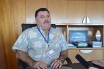 Mario Banner, dans son fauteuil de directeur général du port autonome de Papeete en octobre 2012.