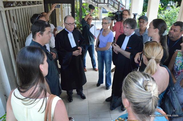 Les familles des victimes, lors de l'audience en indemnisation sur intérêts civils en février dernier.