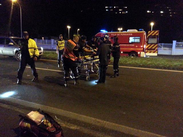 La victime, un homme de 42 ans, est prise en charge par les pompiers avant l'arrivée du SMUR.