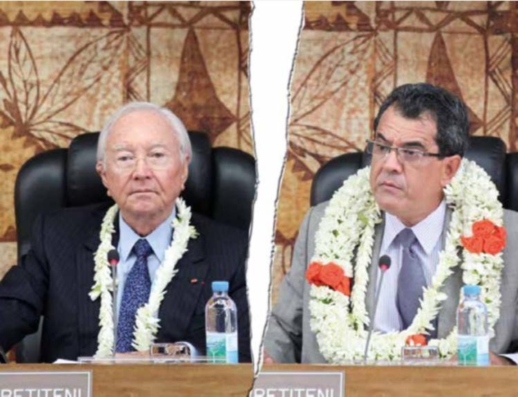 Edouard Fritch demande à la justice de reconnaître en urgence l'incapacité de Gaston Flosse à occuper la présidence du Tahoera'a Huiraatira.