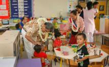 Le Président et la ministre de l'Education visitent des établissements scolaires