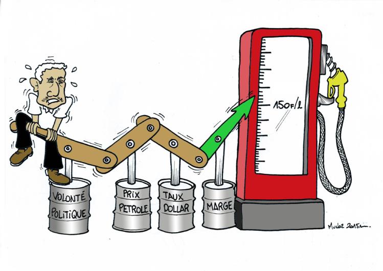 """""""Carburant : prix à la pompe"""" vu par Munoz"""