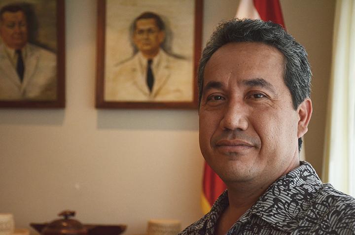 Marcel Tuihani, président de l'assemblée de Polynésie française et auteur de la proposition de délibération.