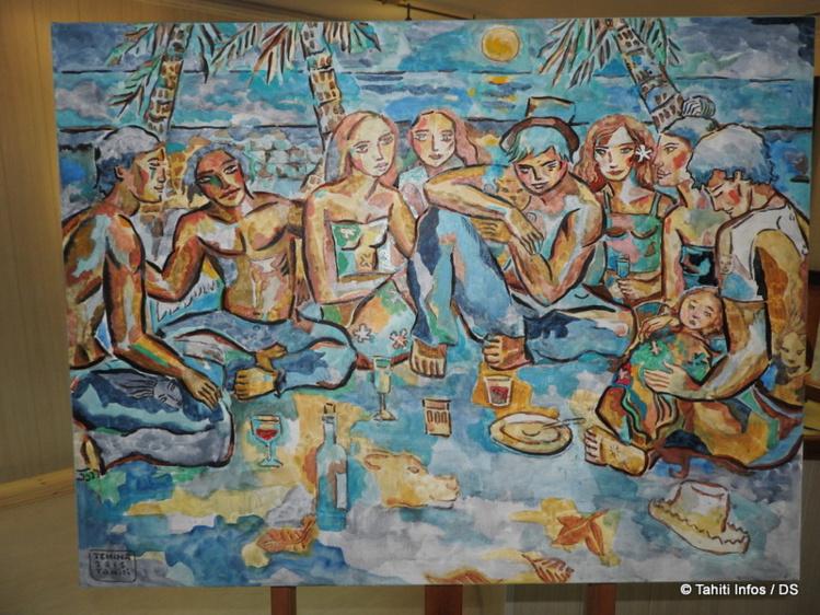 Cette année, l'artiste dévoile une trentaine d'œuvres : des aquarelles et des huiles sur toile.