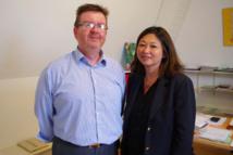 Caroline Tang rencontre le nouveau Délégué général à l'Outre-mer de la Ville de Paris