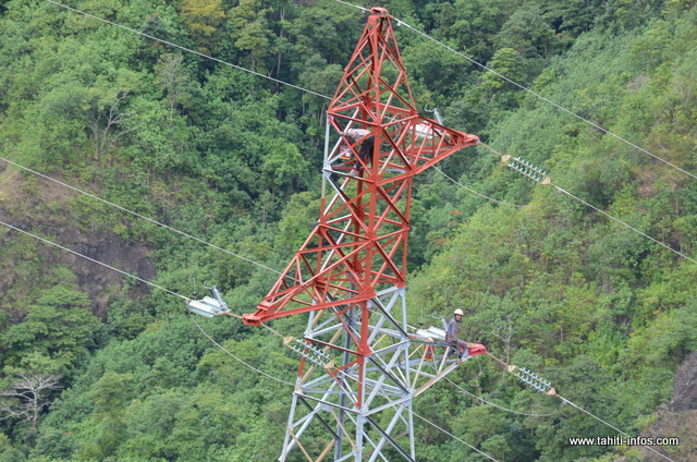 Lifting à haut risque pour les pylônes de la TEP