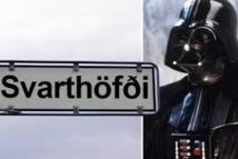 Une rue Dark Vador à Reykjavik