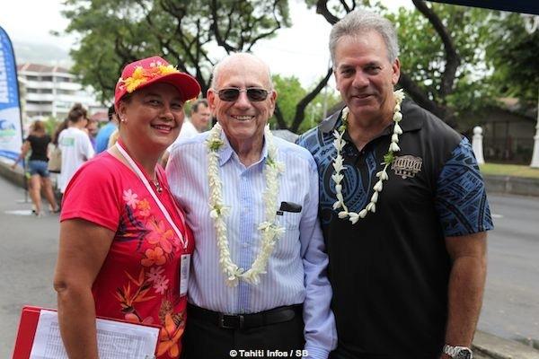 René Malmezac, président d'honneur de la fédération tahitienne de cyclisme.