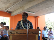 """Tearii Alpha, ministre du logement : """" La priorité est donnée à 100 % aux relogements des familles habitant sur l'emplacement du futur Mahana beach"""""""