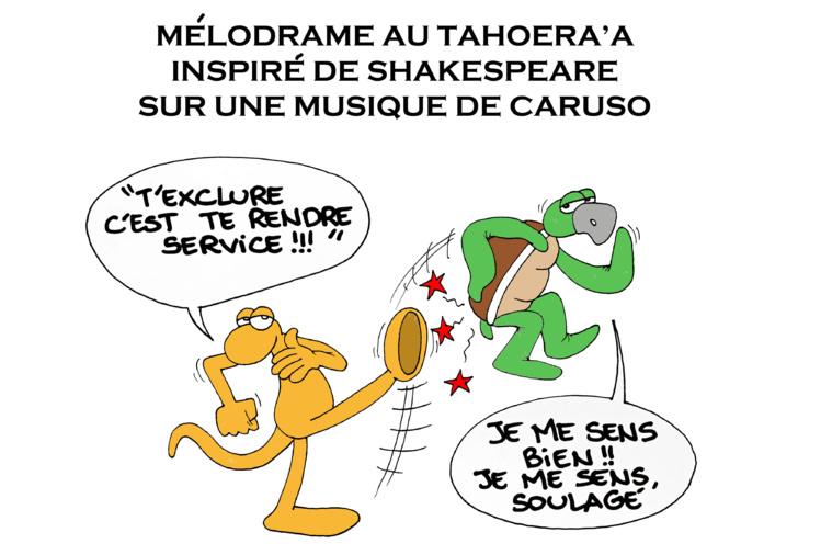"""""""Fritch-Flosse, le divorce"""" vu par Munoz"""