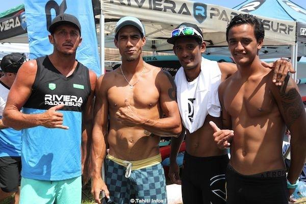Les champions de Sup étaient présents. De droite à gauche Lorenzo Bennett, Niuhiti Buillard, Georges Cronsteadt et Ryan Helm un rider international