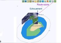 la position réelle de l'île se situe 1500 m plus au nord que celle indiquée sur la cartographie MaxSea. À l'échelle de la carte papier 6689 utilisée, ces 1500 m représentent 2,5 mm.