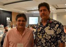 Michel Monvoisin et Paul Sloan, président et directeur du GIE Tahiti Tourisme