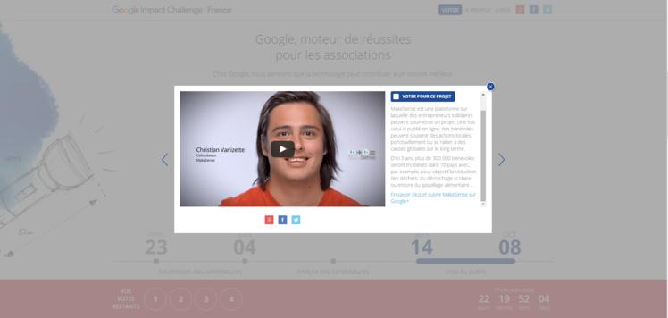Make Sense sélectionnée au Google Impact Challenge