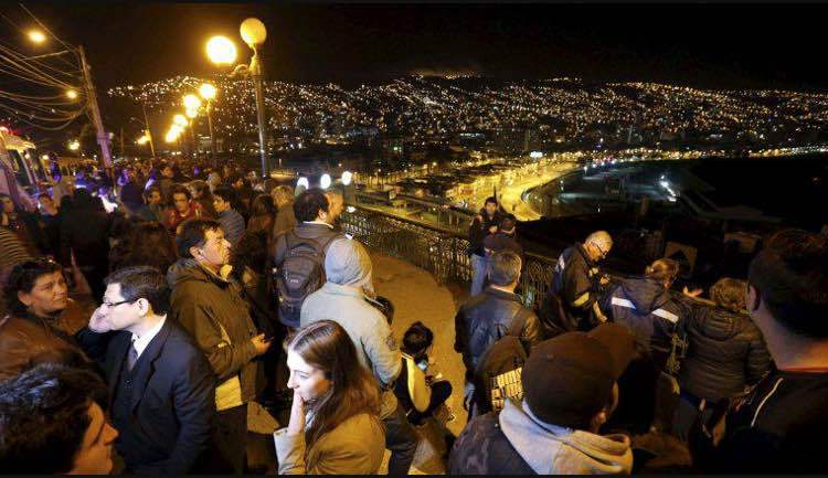 Le Chili touché par un séisme de 7,2, alerte au Tsunami, la Polynésie concernée de façon faible