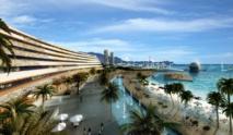 Le projet d'aménagement du groupe Forebase présenté en juillet 2014 au gouvernement de Polynésie française. Il avait été alors jugé futuriste avec deux  tours jumelles de 100 mètres de hauteur. Son atout d'alors, le coût : 120 milliards de Fcfp pour environ 3000 chambres et le refus de recourir à des remblais.