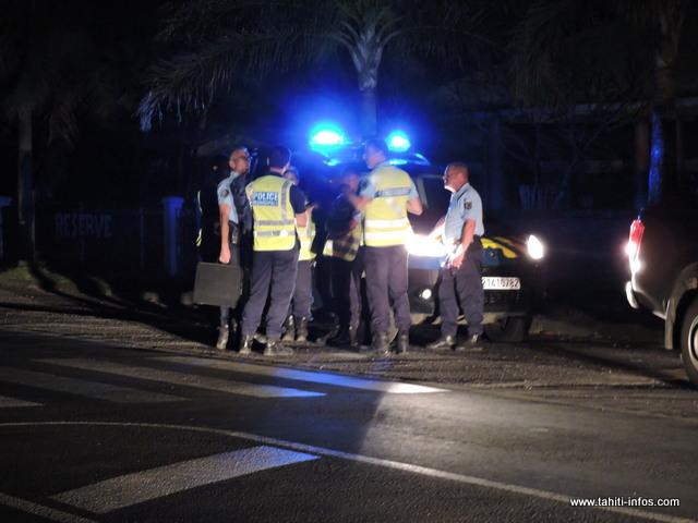 À Papenoo, les gendarmes et la police municipale ont travaillé ensemble pour assurer les rondes et la protection des populations concernées.