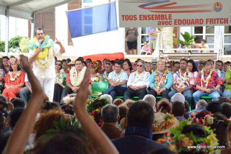 """Plus de 2 000 personnes au rassemblement """"Tous ensemble avec Edouard Fritch"""""""